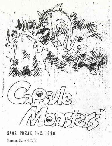 Cover of the pitch for Capsule Monsters