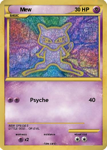 Fake card illustrating what Ancient Mew might look like in the standard format
