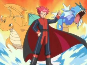 Lance with Dragonite and Gyarados