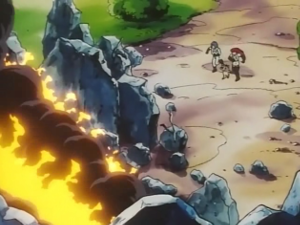 Jessie, James, and Meowth runs to the wreckage