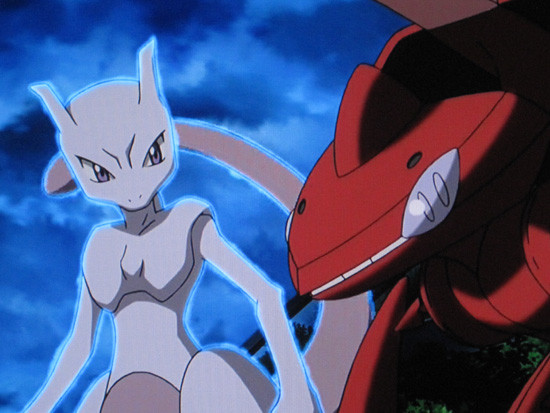 Mewtwo and the Red Genesect